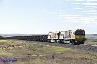 ACN4169 and ACN4175 on 2761 loaded Karara iron ore train seen here heading though Narngulu east for Geraldton Port on the 1st July 2019