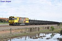ACN4169 on 1762 empty Karara iron ore train seen here heading though Narngulu on the 30th June 2019