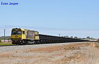 ACN4169 on 5764 empty Karara train seen here approaching Narngulu East on the 21st February 2019