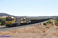 ACN4172 and ACN4169 on 6761 loaded Karara iron ore train seen here heading though Bringo on the 22nd February 2019