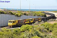 ACN4172 and ACN4169 on 6761 loaded Karara iron ore train seen here approaching the Geraldton Port on the 22nd February 2019