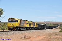 ACN4174 and ACN4171 on 6762 empty Karara iron ore train seen here heading though Erandu on the 22nd February 2019