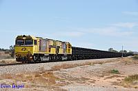 ACN4174 and ACN4171 on 6762 empty Karara iron ore train seen here heading though Tenindewa on the 22nd February 2019