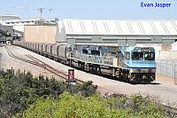 CBH025 and CBH006 on 5G52 CBH grain train seen here unloading at the Geraldton Port on the 21st February 2019