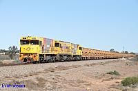 P2504, P2514 and P2505 on 3720 empty Mount Gibson iron ore train seen here heading though Tenindewa on the 2nd July 2019