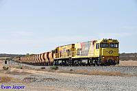 P2505 and P2502 on 7721 loaded Mount Gibson iron ore train seen here heading though Monger on the 25th January 2020