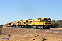 P2508, P2502 and P2506 on 3721 loaded Mount Gibson iron ore train seen here heading though Tenindewa on the 2nd July 2019