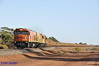 P2516, P2506 and P2508 on 2720 empty Mount Gibson iron ore train seen here heading though Pintharuka on the 27th January 2020