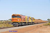 P2516, P2506 and P2508 on 2720 empty Mount Gibson iron ore train seen here heading though Koolanooka on the 27th January 2020