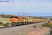 P2516 P2514 and P2505 on 1720 empty Mount Gibson iron ore train seen here powering though Moonyoonooka on the 30th June 2019