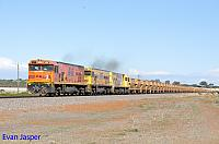 P2516, P2514 and P2505 on 2720 empty Mount Gibson iron ore train seen here heading though Narngulu East on the 1st July 2019