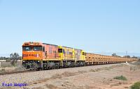 P2516, P2514 and P2505 on 2720 empty Mount Gibson iron ore train seen here heading though Tenindewa on the 1st July 2019