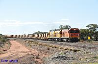 P2516, P2514 and P2505 on 2720 empty Mount Gibson iron ore train seen here heading though Pintharuka on the 1st July 2019