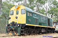 Hotham Valleys F class loco F40 at Isandra Siding on the 31st January 2015