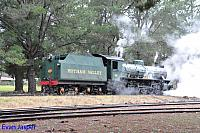 Hotham Valleys steam locomotive W920 seen here at Dwellingup getting ready to haul the steam ranger on the 2nd October 2016