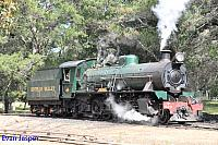 Hotham Valleys steam locomotive W920 getting ready to haul the Steam ranger seen here at Dwellingup on the 28th September 2016