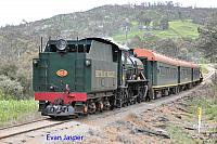 Hotham Valleys steam locomotive W920 on the Steam ranger seen here heading though Meelon on the 28th September 2016