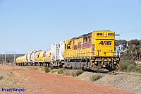 Q4019 on 4C74 empty cememt and lime train seen here departing Parkeston for West Kalgoorlie on the 25th March 2015