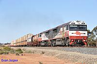 SCT010 and SCT014 on 2MP9 SCT freighter seen here heading though Binduli on the 16th September 2015