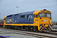 8114 sits at Perth Freight Terminal waiting for its next job on the 9th August 2014