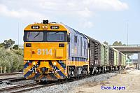 8114 on 2P51 Sadliers shunt seen here at Forrestfield South on the 15th September 2014