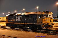 8117 sits at PFT Kewdale under lights on the 22nd September 2016