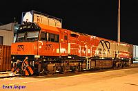 MRL002 loco sits under lights at the PFT Kewdale on the 10th January 2015