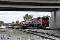MRL003 and MRL004 on 6030 loaded MRL iron ore train seen here heading though Forrestfield south on the 4th August 2017