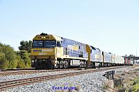 NR10 and AN1 on 1PM5 freighter seen here heading though Forrestfield South after departing from PFT Kewdale on the 26th October 2014