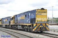 NR120 on 6P31 light engine shunt from Kewdale to Bassendean with damage on the 12th October 2018