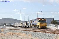 NR121, NR69 and NR35 on 1MP2 loaded steel train seen here heading though Midland for PFT Kewdale on the 15th April 2020