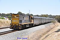 NR13 on 7003 empty Indian Pacific service seen here heading though Hazelmere for PFT Kewdale on the 15th November 2014
