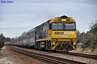NR16 on 4PA8 Indian Pacific at Swan View on the 22nd December 2010