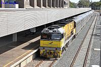 NR18 on 5AP8 Indian Pacific seen here arriving into East Perth Terminal on the 24th January 2015