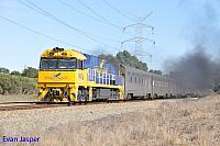 NR25 on 1AP8 Indian Pacific seen here powering though Stratton for East Perth on the 7th October 2014