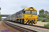 NR25 on 1PA8 Indian Pacific seen here heading though Bellevue on the 1st February 2015