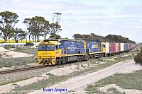 NR26 and NR49 on 1PS6 freighter seen here heading though Tammin on the 3rd September 2017