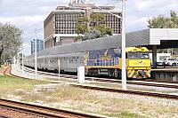 NR27 on 4PA8 Indian Pacific service seen here ready to depart East Perth Terminal on the 2nd September 2015