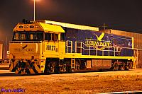 NR27 sits under lights at the Perth Freight Terminal in Kewdale ready for its next job on the 9th November 2014