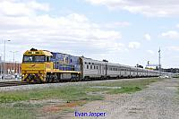NR27 on 4PA8 Indian Pacific seen here heading though Midland on the 2nd September 2015