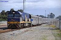 NR28 on 1PA8 Indian Pacific service at Midland on the 28th July 2013