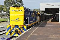 NR28 on 7003 Indian Pacific is ready to depart East Perth for Kewdale to stabled on the 23rd August 2014