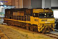 NR30 sits at Kewdale's Provisioning shed under lights waiting for its next job on the 31st March 2013