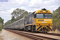 NR40 on 1PA8 Indian Pacific at Middle Swan on the 5th December 2010