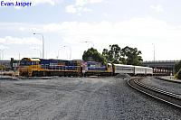 NR45 and NR105 on 1MP2 loaded steel train seen here arriving into PFT Kewdale on the 1st May 2019