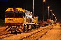 NR51 on 4PW4 steel train at Forrestfield Yard on the 22nd December 2010