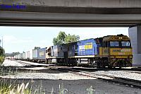 NR61 and NR71 on 6SP7 intermodal freighter seen here rolling though Forrestfield South for PFT Kewdale on the 12th March 2018