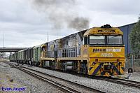 NR63 and NR105 on 7P51 Sadliers transfer is seen here at Forrestfield South on the 29th March 2014