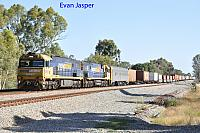 NR67 and NR108 on 4PS6 freighter seen here heading though Hazelmere on the 27th December 2017