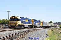 NR68 and AN3 on 5PM5 freighter seen here heading though Forrestfield south on the 4th January 2018